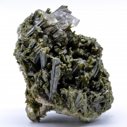 Epidote and quartz, Le Cornillon, Isère, France.
