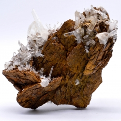 Quartz and siderite, Vizille, Isère, France.