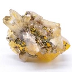 Fluorite, barite, chalcopyrite - Bergmännisch Glück mine, Germany