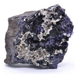 Fluorite antozonite, calcite - Ojuela mine, Mapimi, Durango, Mexico
