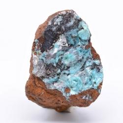Aurichalcite, calcite - Ojuela mine, Mapimi, Durango, Mexico